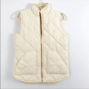 J.Crew NWT Quilted Ivory Vest